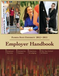 Employer Handbook - The Career Center - Florida State University