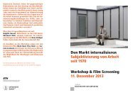 Den Markt internalisieren - Zentrum Geschichte des Wissens - ETH ...