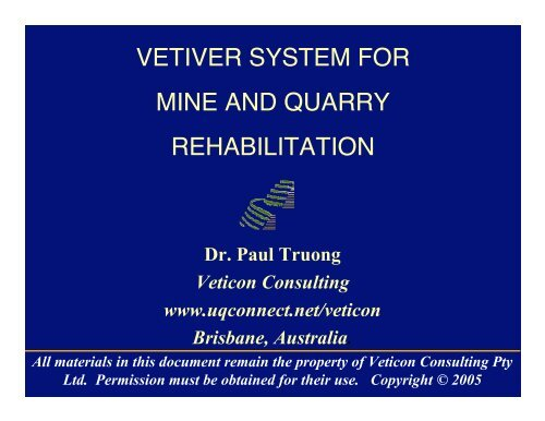 Mine Tailings Rehabilitation
