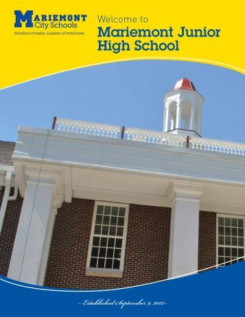 Mariemont Junior High School program - Mariemont City Schools