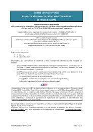 Prospectus AMF version VISA - Crédit Agricole Franche-Comté