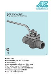 TYPE SW / BW Plug-Valve with weld ends