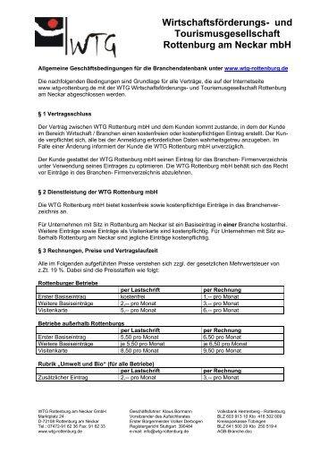 AGBs - WTG Rottenburg am Neckar mbH