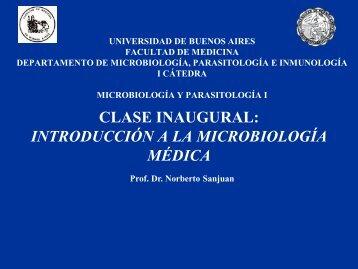 INTRODUCCIÓN A LA MICROBIOLOGÍA MÉDICA - Facultad de ...