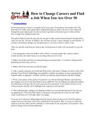 How to Change Careers and Find a Job When You Are Over 50 - AGA
