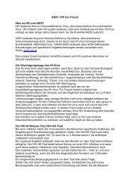 AIDS / HIV bei Frauen - Frauengesundheit-Wien