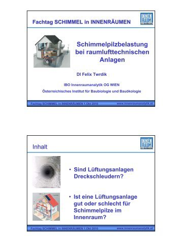 DI Felix Twrdik (IBO Innenraumanalytik, VDI 6022 zertifizierter ...