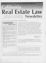 Cal Real Estate Law November 2010 - City College of San Francisco