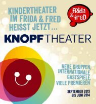 FRida & freD Theater-Spielplan September 2013 bis Juni 2014