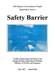 safety barriers - About Department of Road