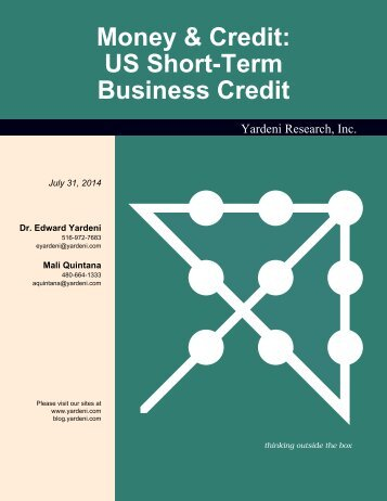 US Short-Term Business Credit - Dr. Ed Yardeni's Economics Network