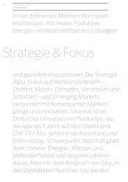 Strategie & Fokus - Annual Report 2012