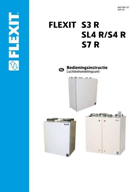 Bedieningsinstructie Flexit S3 R Sl4 R/S4 R S7 R