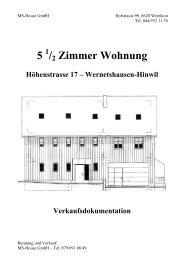 5 /2 Zimmer Wohnung - ms house gmbh
