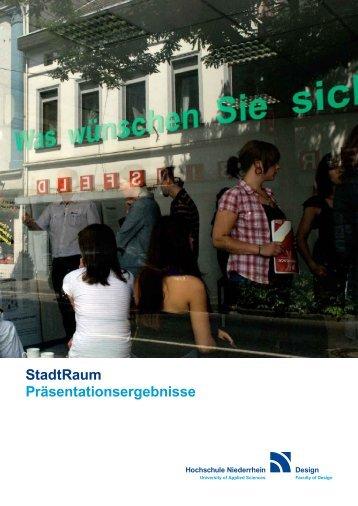 StadtRaum - Kompetenzzentrum Social Design - Hochschule ...