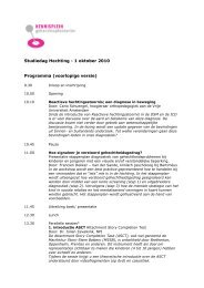 Studiedag Hechting - 1 oktober 2010 Programma ... - Kennisplein