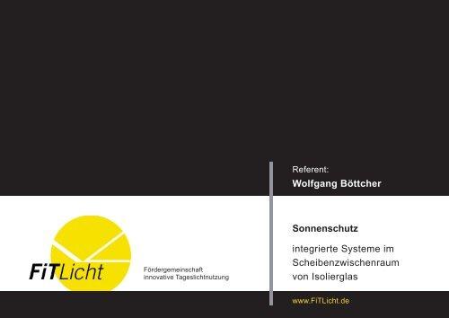 Sonnenschutz integrierte Systeme im Scheibenzwischenraum von ...