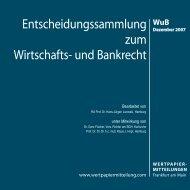 WuB - WM Wirtschafts- und Bankrecht