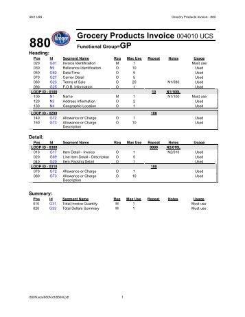 EDI Invoice Maurice Sporting Goods - Edi invoice