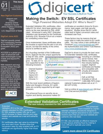 Making the Switch to Extended Validation (EV) - Digicert