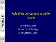 greffe rein harz - Service de néphrologie dialyse
