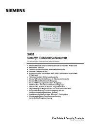 Alarmsystem Sintony Dokumentation - Sersys AG