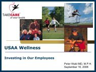 Wald, Peter. USAA Wellness
