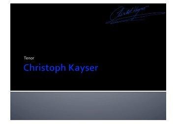 Inhalte - Christoph Kayser