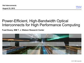 Power-Efficient, High-Bandwidth Optical ... - Hot Interconnects
