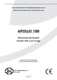 Installatiehandleiding en gebruiksaanwijzing Dru Apollo ... - UwKachel