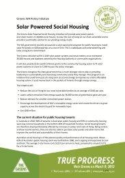 Solar Powered Social Housing initiative - Community Housing ...