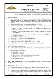 NOLIKUMI N75 RPIVA Dabas un darba vides institūta nolikums
