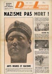 ARTS NEGRES ET RACISME - Archives du MRAP