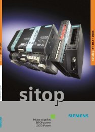 Power supplies SITOP power LOGO!Power Catalog K T 10.1 2004