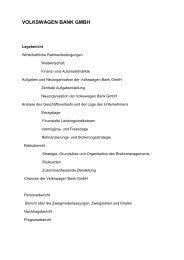 VOLKSWAGEN BANK GMBH - Volkswagen Financial Services AG