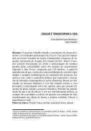 EDUCAR É TRANSFORMAR A VIDA - Pensamento Biocêntrico