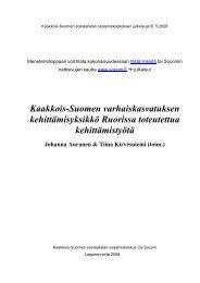 Kaakkois-Suomen varhaiskasvatuksen kehittämisyksikkö ... - Socom