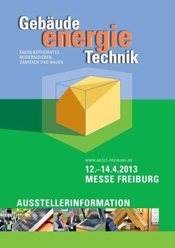 14.4.2013 messe freiburg - Gebäude.Energie.Technik