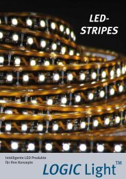 LED- STRIPES - LOGIC Glas