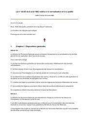 Loi n° 82-66 du 6 août 1982 relative à la normalisation et à ... - REME