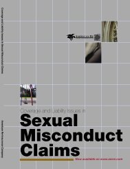 Coverage and Liability Issues in Sexual Misconduct Claims