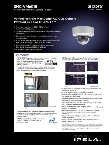 Product Specification: Sony SNC-VM601B - Network Webcams