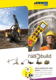 secure solutions for radio control of machinery used in the ...