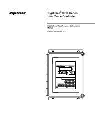 DigiTrace® 920 Series Heat Trace Controller - California