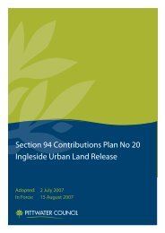 Plan No 20 For Ingleside Urban Land Release - Pittwater Council