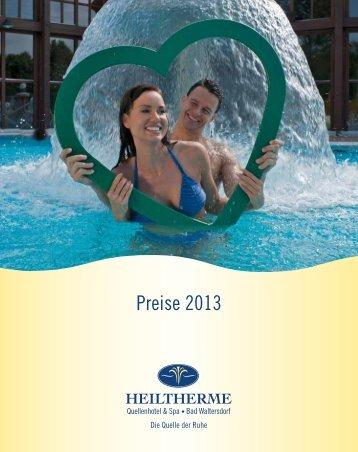 Preise 2013 - Heiltherme Bad Waltersdorf