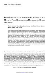 from salt injection to naloxone - Journal of Drug Issues