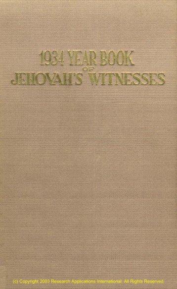 1934 YEAR BOOK - Aggelia