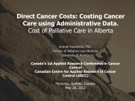 Dr. Konrad Fassbender - Canadian Centre for Applied Research in ...