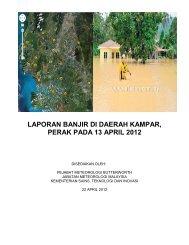 laporan banjir di daerah kampar, perak pada 13 april 2012